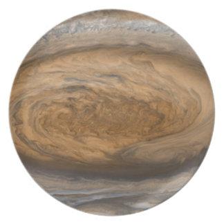 Jupiters große rote Stelle Teller