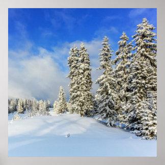Jura-Berg im Winter, die Schweiz Poster