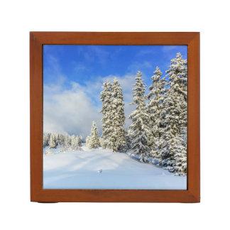 Jura-Berg im Winter, die Schweiz Stifthalter