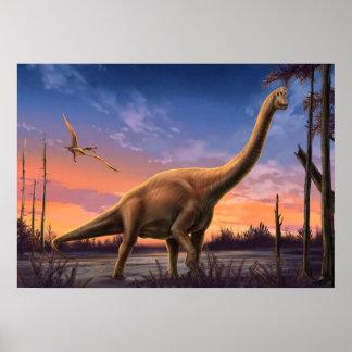 Juradinosaurier-Plakat