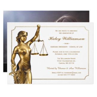 Juristische Fakultäts-Abschluss-Einladung Karte