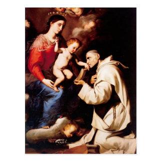 Jusepe Ribera-Madonna mit Christus-Kind u. St. Postkarte