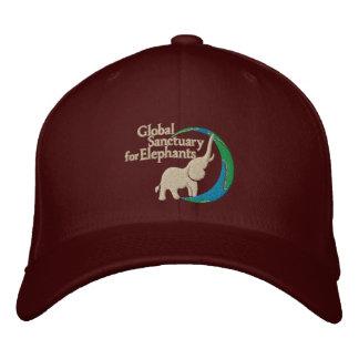 Justierbare Baseballmütze mit Logo in Burgunder Bestickte Kappe