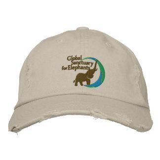 Justierbare beunruhigte Baseballmütze mit Logo Bestickte Kappe
