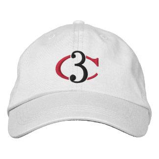 Justierbarer Hut des Logo-C3 Bestickte Mütze