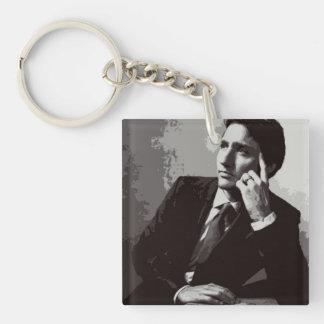Justin Trudeau Schwarzweiss Schlüsselanhänger