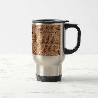 Jutefaser-Muster-Kaffee-Tasse Edelstahl Thermotasse