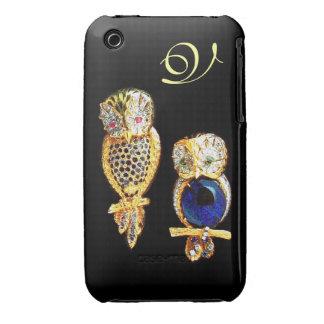 JUWEL-EULEN, Gold, blauer Saphir, Topaz iPhone 3 Hüllen