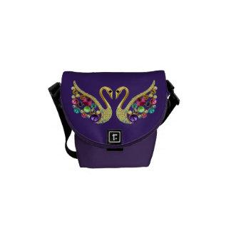 Juwel-Pfau-Funky lila Bote-Tasche Kurier Tasche