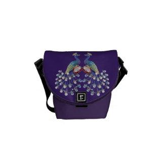 Juwel-Pfau-Funky lila Bote-Tasche Kurier Taschen