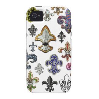 Juwel-Schein Lilien-Flor New Orleans iPhone 4 Hülle