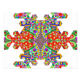 Juwel-Schneeflocke-Schnee-Flocke SCHABLONE Postkarten