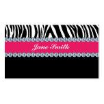 Juwelier-Schmuckzebra-Druck-Diamant-Schein Visitenkartenvorlagen