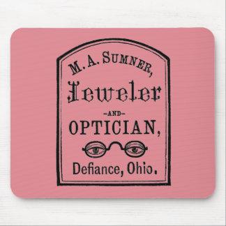 Juwelier-u. Optiker-Anzeige Mauspads