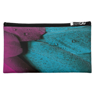 Juwelton lila und Aquafedermuster Kosmetiktasche