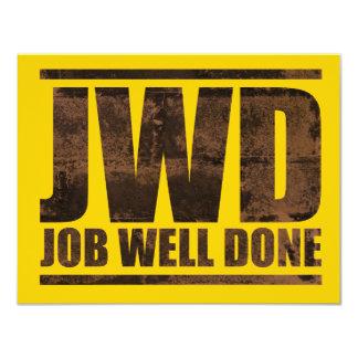 JWD Arbeit gut erledigt - Wäsche-Entwurf 10,8 X 14 Cm Einladungskarte