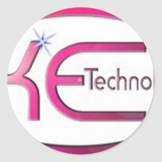 K.E Technologie Runder Aufkleber
