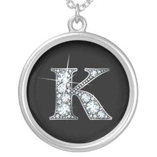 """""""K"""" Imitat """"Diamant Bling"""" Halskette"""