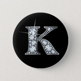 """K"" Imitat ""Diamant Bling"" Knopf Runder Button 5,1 Cm"