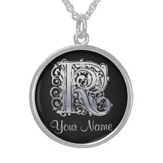 K-Initiale mit Ihrer Namenshalskette Sterling Silberkette