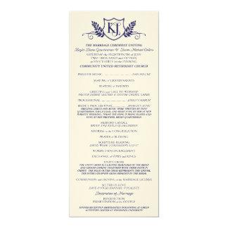 K&J Hochzeits-Zeremonie-Programm 10,2 X 23,5 Cm Einladungskarte
