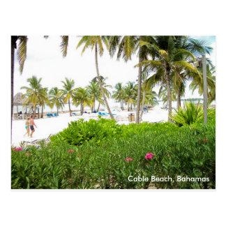 Kabel-Strand, Bahamas Postkarte