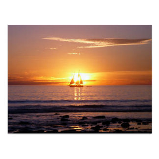 Kabel-Strand-Sonnenuntergang Postkarte