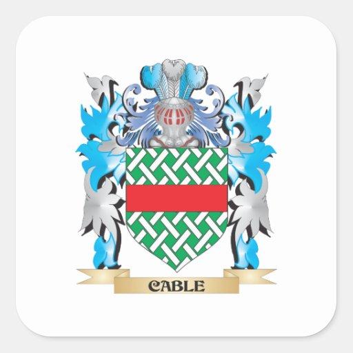 Kabel-Wappen - Familienwappen Quadrataufkleber