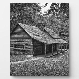 Kabine im Holz Fotoplatte