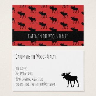 Kabine im Holz-Grundstück Visitenkarte