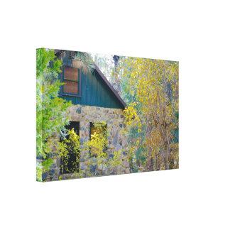 Kabine im Holz HDR Gespannter Galerie Druck