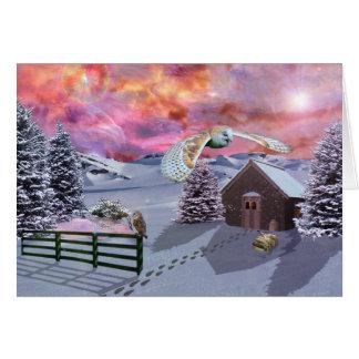 Kabine im Schnee Karte