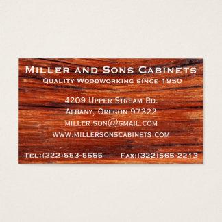Kabinett-Holzbearbeitungs-Zimmerei-Visitenkarten Visitenkarte