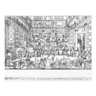 Kabinett Physik, 1687 Postkarte