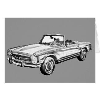 Kabriolett-Illustration MERCEDES-BENZ 280 SL Karte