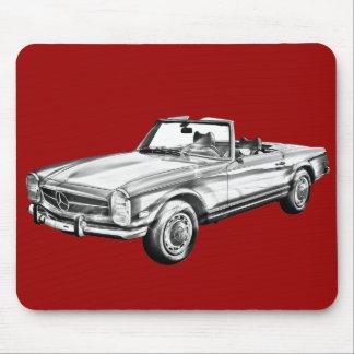 Kabriolett-Illustration MERCEDES-BENZ 280 SL Mauspad