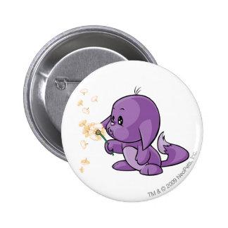 Kacheek lila runder button 5,1 cm