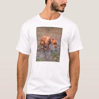 Kacken Hündchen-des minimalen Button-T-Stücks T-Shirt