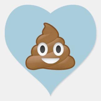 Kacken Sie emoji Herz-Aufkleber