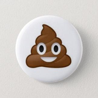 Kacken Sie Emoji Knopf Runder Button 5,7 Cm
