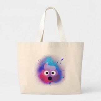 Kacken Sie Emoji Spray-Farben-Kunst Jumbo Stoffbeutel