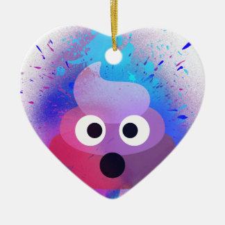 Kacken Sie Emoji Spray-Farben-Kunst Keramik Ornament