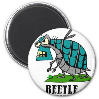 Käfer durch Lorenzo Runder Magnet 5,7 Cm