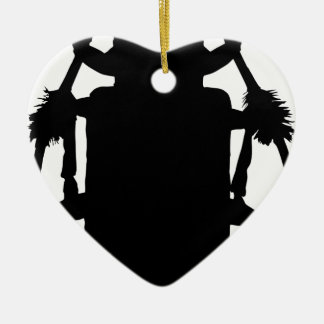 Käfer-Silhouette Keramik Ornament