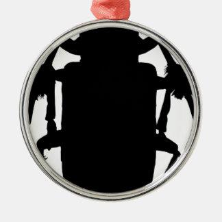 Käfer-Silhouette Silbernes Ornament