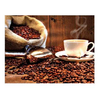 Kaffee-Aroma Postkarte