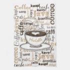 Kaffee-auf der ganzen Welt Name Handtuch