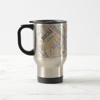 Kaffee auf Leinwand-Wort-Wolke aquamarines ID283 Reisebecher