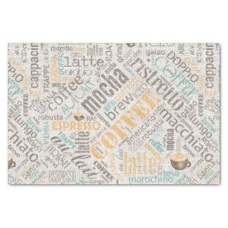 Kaffee auf Leinwand-Wort-Wolke aquamarines ID283 Seidenpapier