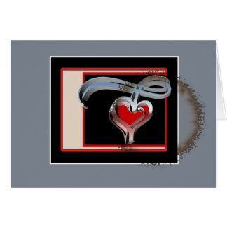 Kaffee beflecktes Valentinsgruß-, Rot-und Karte